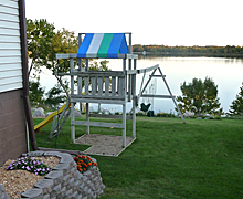 Swing Set with Lake View